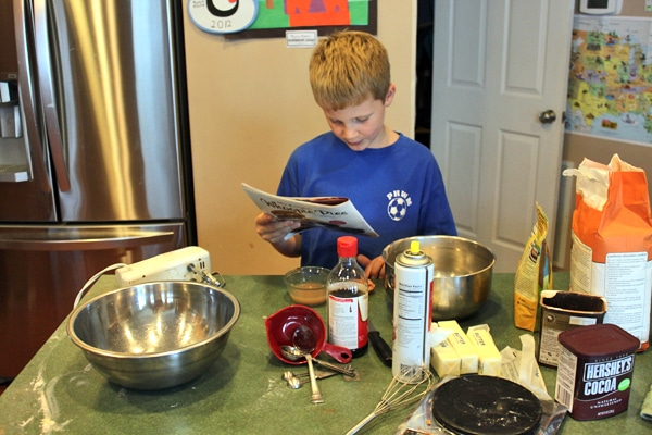 I made sure to let him read the ingredients and steps instead of just telling him what to do.