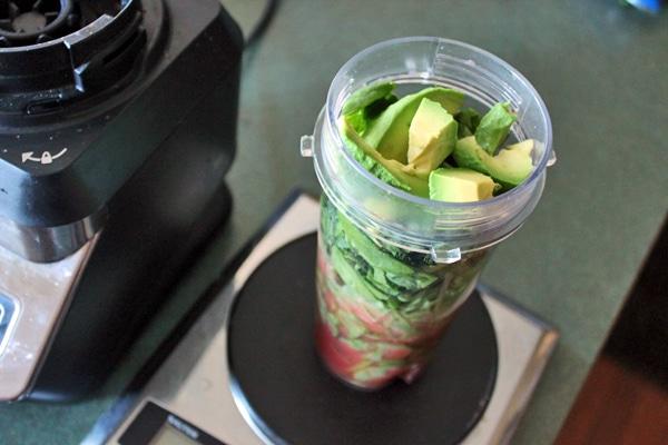 Green Watermelon Avocado Smoothie Step 1