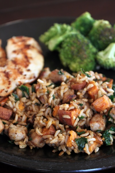 Using Leftovers: Pork and Sweet Potato Fried Rice