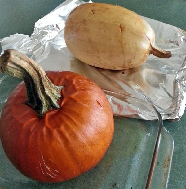 Roasted Pumpkin and Spaghetti Squash