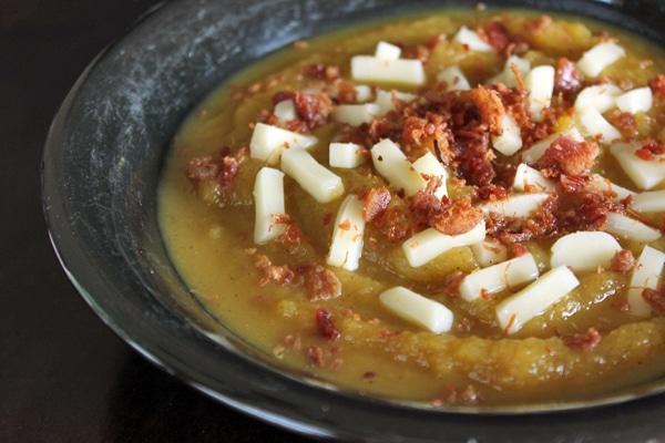 Winter Squash Soup Topper Idea
