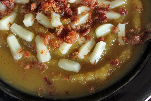 Top Your Winter Squash Soup with Cheese and Bacon!