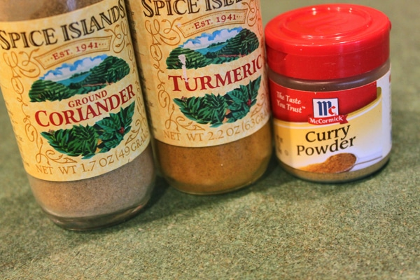 Coriander, Turmeric, Curry Powder