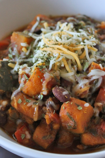 Kabocha and black bean chili