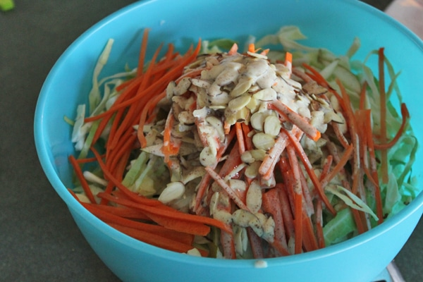 Fall Slaw with Asian Pears and Almonds - Step 2