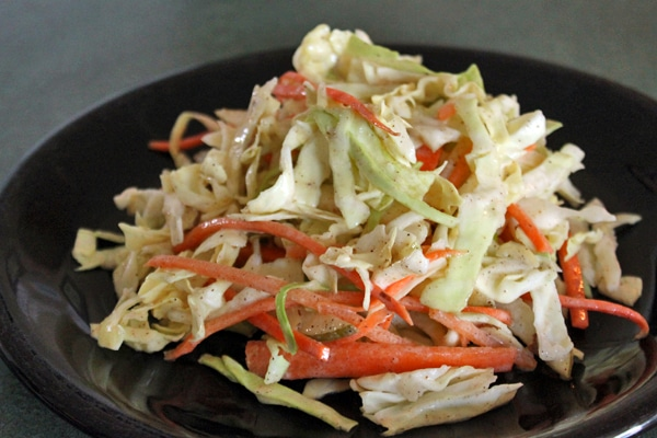 Fall Slaw with Asian Pears and Almonds finished