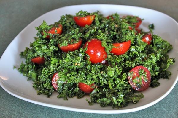 Kale Pizza Salad step 1
