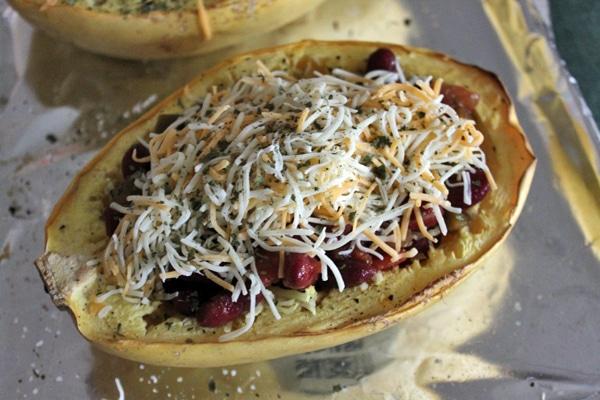 Kidney Bean Spaghetti Squash Boats step 5