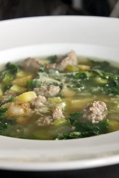 Sausage Potato Chard Soup