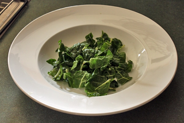 chard in the bowl