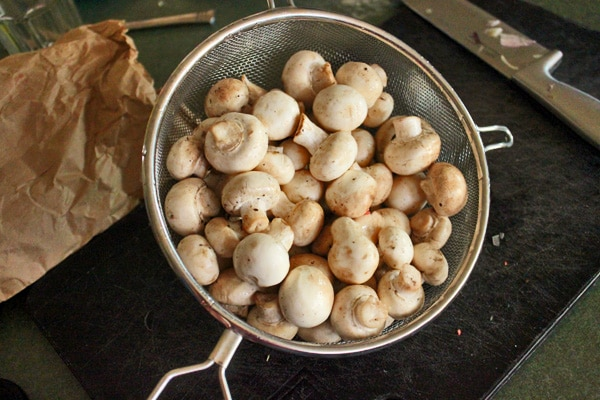 Onion and Mushroom Soup - the mushrooms