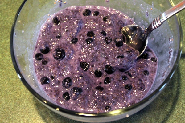 Chia and Wild Blueberry Bowl - step 3