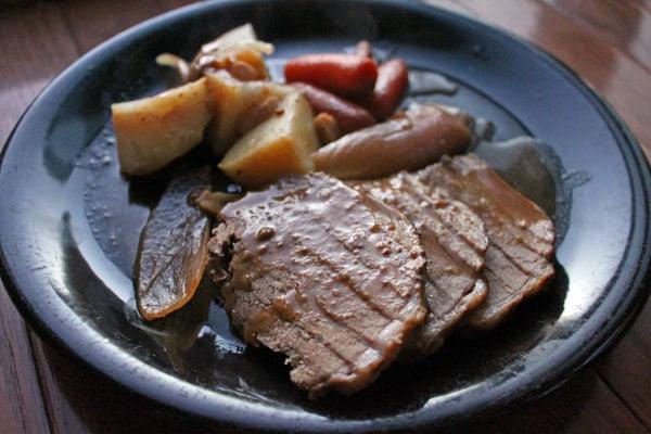 Pot roast finished plate.