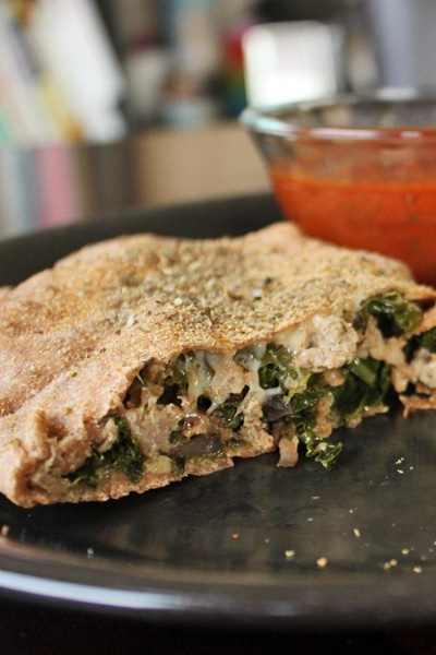 Turkey, Kale and Portobello Stromboli