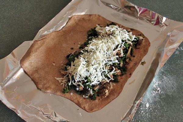 Turkey, Kale and Portobello Stromboli  - Step 2