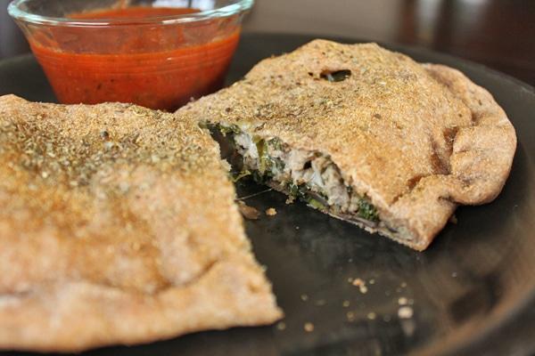 Turkey, Kale and Portobello Stromboli  - Cut in half