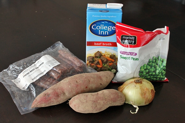 Breakfast Sausage and Sweet Potato Soup - Ingredients