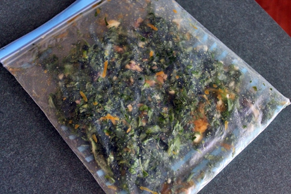 kale salad in a bag