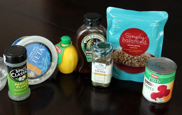 Quinoa, Beet and Feta Salad - ingredients