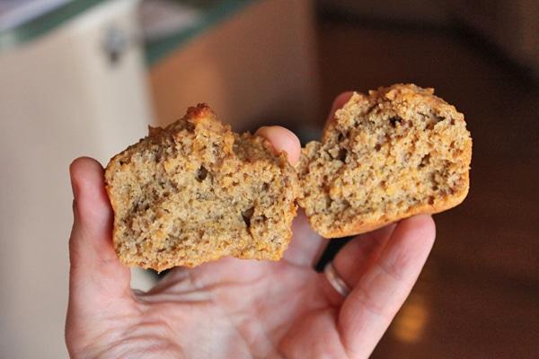 inside the  butternut squash muffin