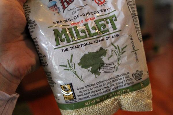Millet in bag