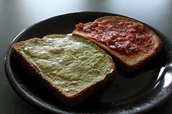 Avocado and Salsa on bread