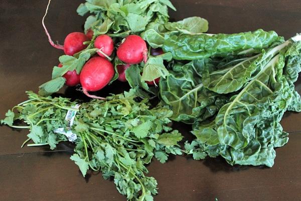chard - radishes - parsley