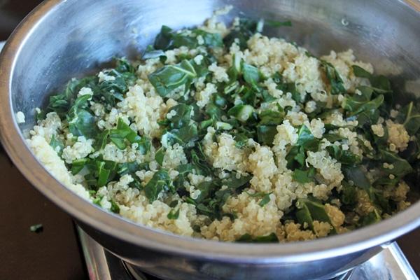 Quinoa mixed with Chard