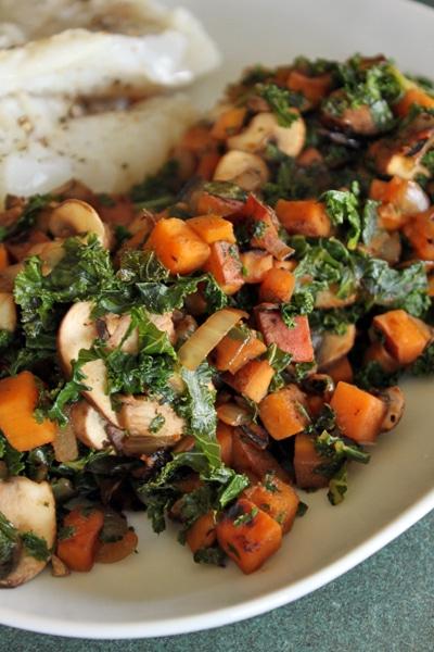 Sweet Potato and Kale Skillet
