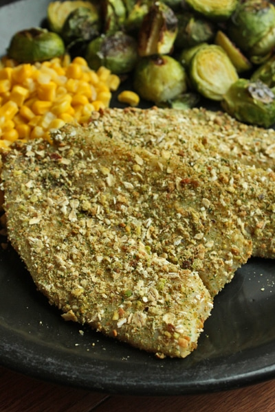 Pistachio and Oat Crusted Tilapia