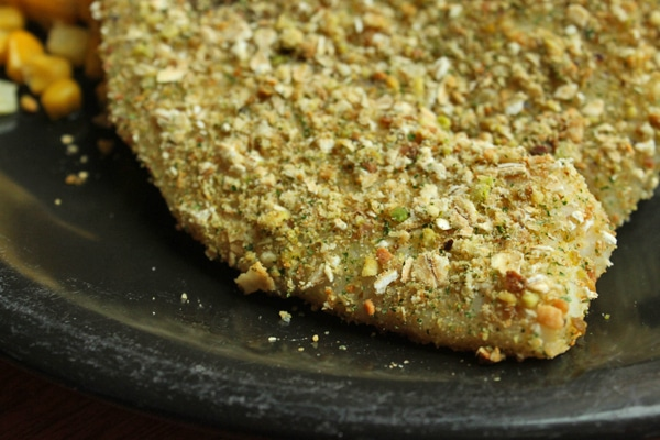 Pistachio and Oat Crusted Tilapia Close Up