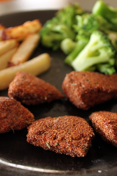 Oven-Baked, Teff-Coated Chicken Nugget