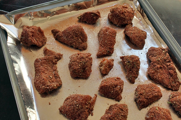 chicken coated in teff
