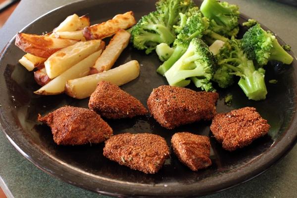 teff nugget dinner plate