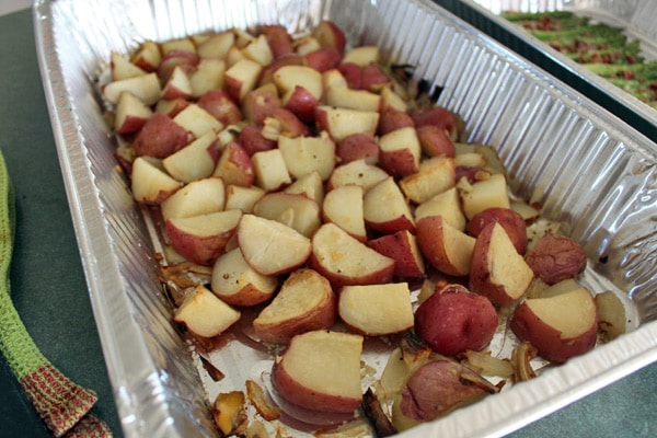 roasted red potatoes after