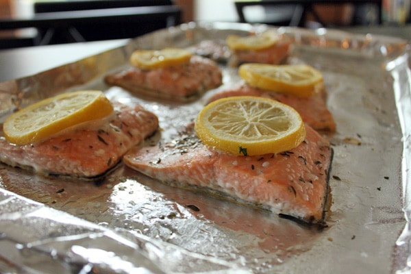 Salmon before cooking