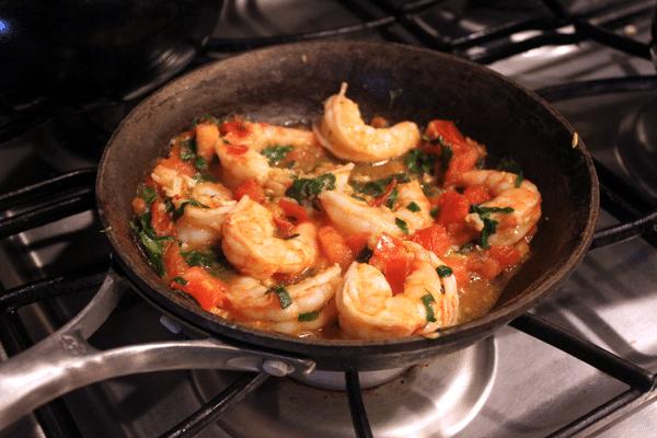 Simple Skillet Shrimp - after