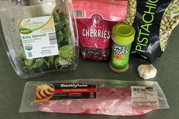 Stuffed Pork Tenderloin - ingredients