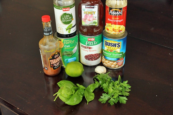 Asian Inspired 3 Bean Salad - The Ingredients