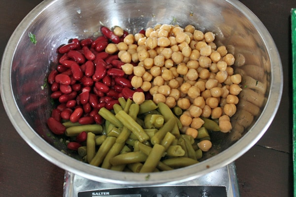 Asian Inspired 3 Bean Salad - Add the Beans