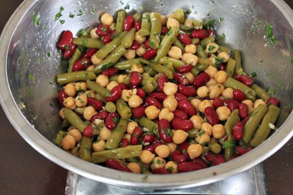 Asian Inspired 3 Bean Salad - Toss