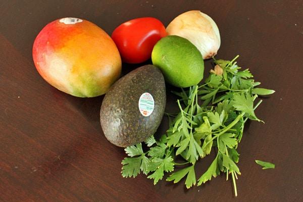 Ingredients for Mango Avocado Salad