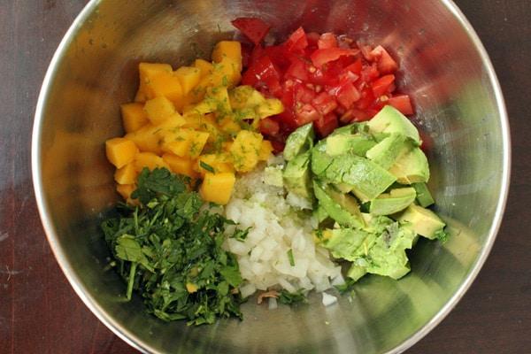Avocado Mango Salsa Step 1