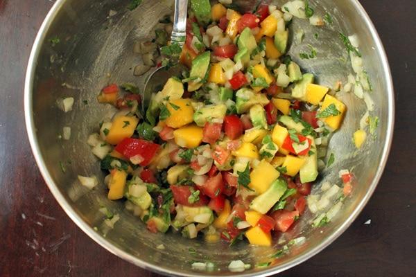 Avocado Mango Salsa Step 2