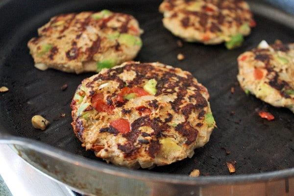 Guac-Turkey Burgers - Flipped