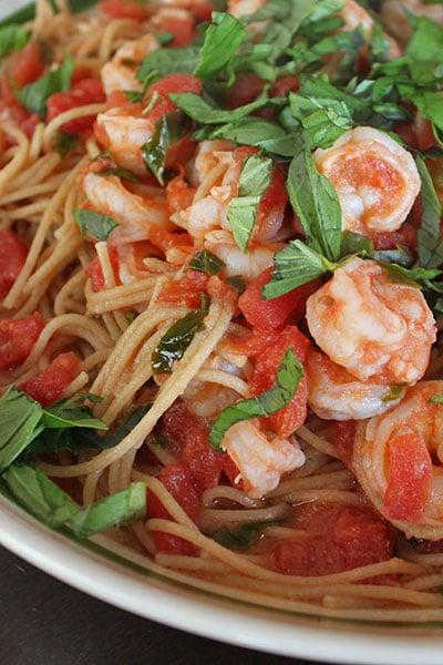Simple Shrimp Spaghetti