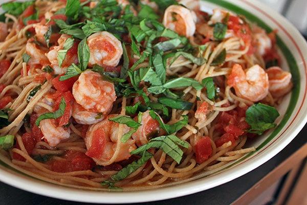 Simple Shrimp Spaghetti Finished