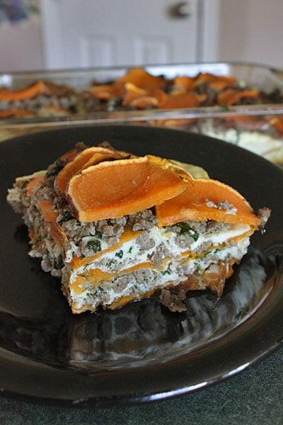 Sweet potato and Sausage Casserole