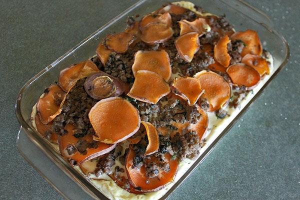 Sweet potato and Sausage Casserole - Finished
