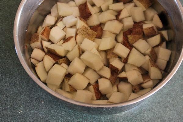 Ryan's Roasted Potatoes - Soaking